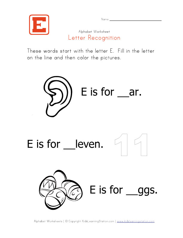 letter e coloring pages. View and Print Your Letter E