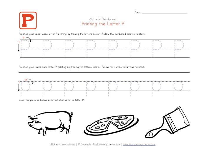 Letter P Worksheets | ABITLIKETHIS