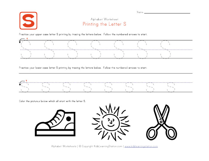 View and print your traceable alphabet letter s worksheet
