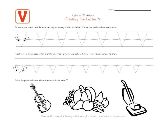 Teaching Preschoolers the Letter V: Alphabet Recognition Activities