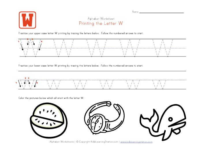 View and print your traceable alphabet letter w worksheet