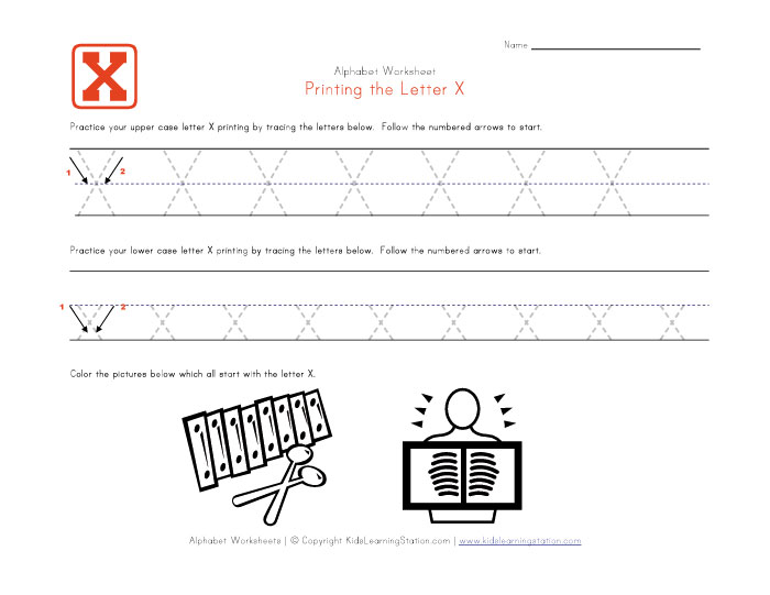 Alphabet Worksheets X. Letter X Worksheets Education Com ...