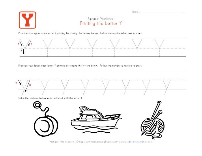 Letter Y Worksheets – Letter Y Worksheets for Kindergarten