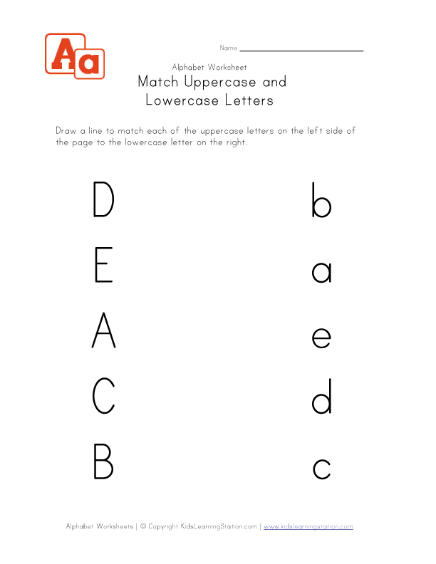 matching uppercase and lowercase letters