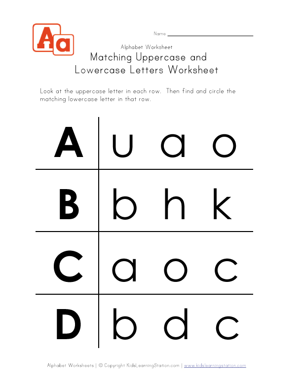 Printables Upper And Lowercase Letters Worksheets upper and lowercase letters worksheets abitlikethis letter uppercase a b c d kids