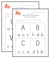 Uppercase and Lowercase Letters Worksheets | Kids Learning Station
