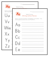 writing letters review worksheets