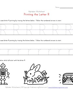 math worksheet : traceable alphabet letter r worksheet  kids learning station : Letter R Worksheets For Kindergarten
