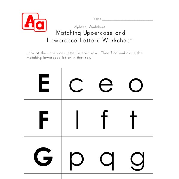 letter worksheets uppercase and lowercase e f g and h all kids network. Black Bedroom Furniture Sets. Home Design Ideas