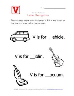 math worksheet : letter v  alphabet recognition worksheet  kids learning station : Letter V Worksheets For Kindergarten