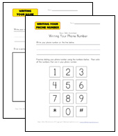name, address, phone worksheets
