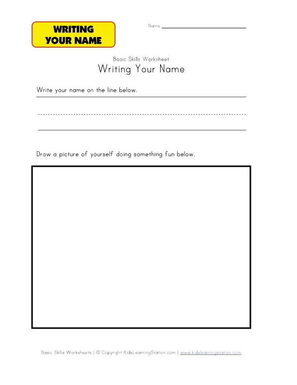 Handwriting Worksheets For Kindergarten Names Letter Practice – Kindergarten Name Writing Worksheets
