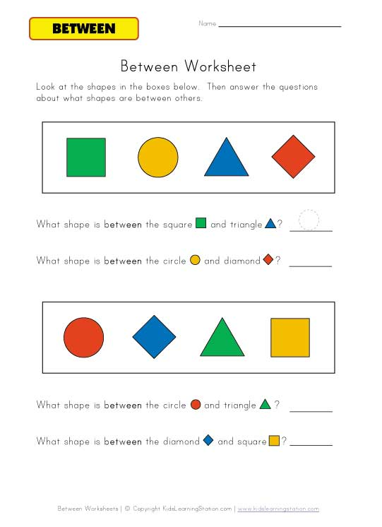 between questions worksheet color