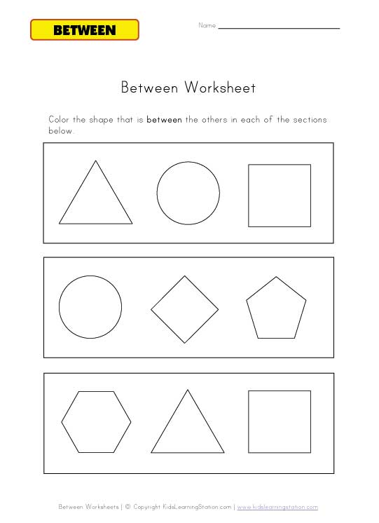 teach between worksheet