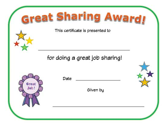 good sharing award