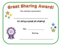 great sharing certificate