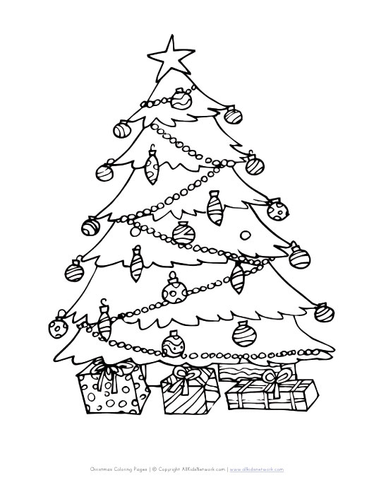View and Print Your Christmas Tree Coloring Page