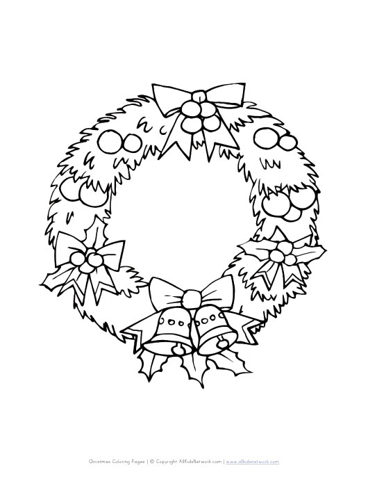 wreath christmas coloring pages - photo#26