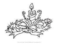 christmas candle coloring page