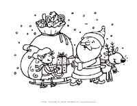 santa in action coloring page