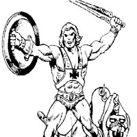 He Man Coloring Pages Print He Man to Color at