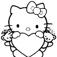 Hello kitty coloring pages all kids network for Hello kitty fall coloring pages