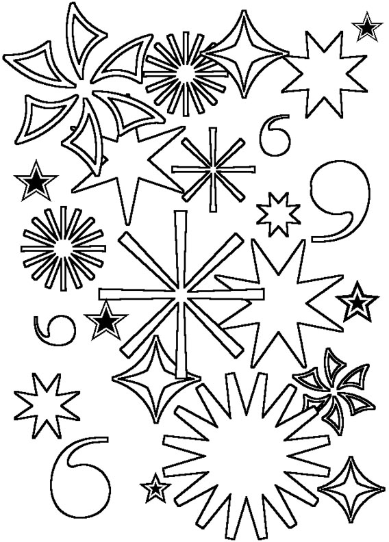 free fourth of july firework coloring pages
