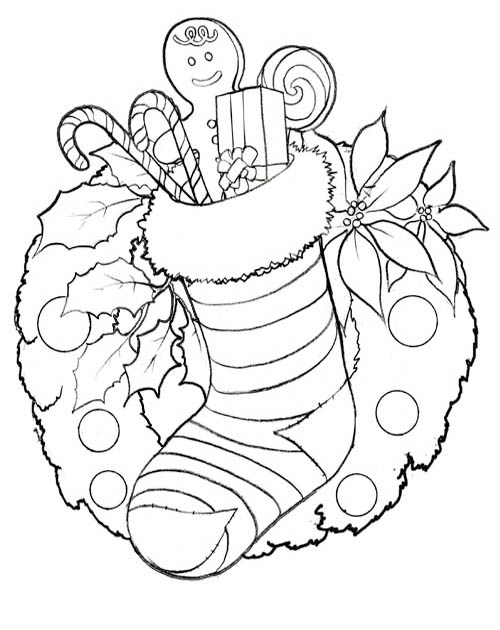 Christmas Coloring Pages  Print Christmas Pictures to Color at