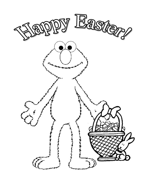 view elmo easter coloring page