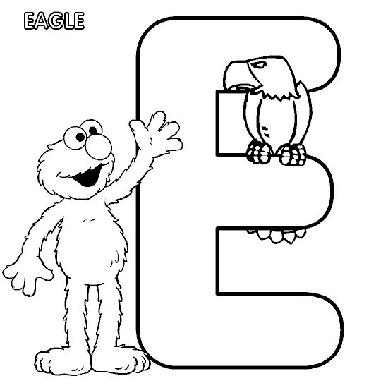 e coloring pages for kids - photo #20