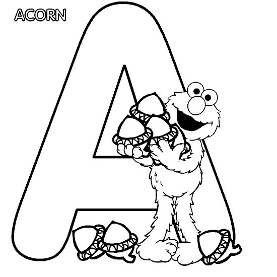 view elmo alphabet a
