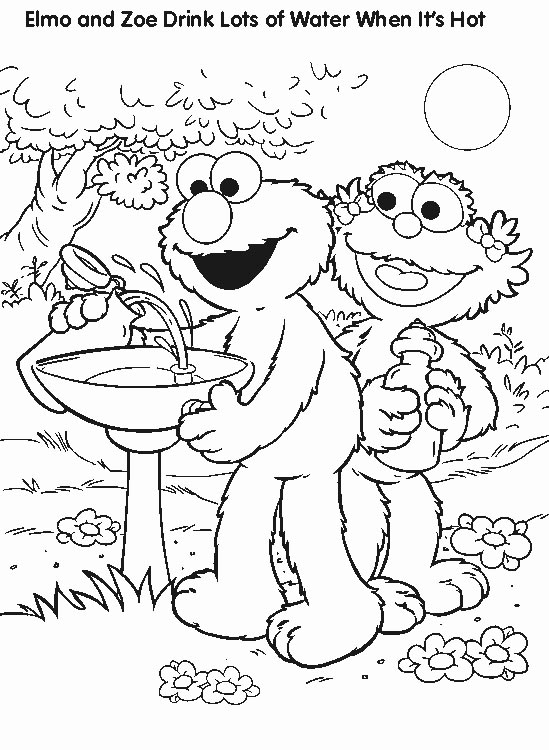 Elmo Coloring Pages Print Elmo