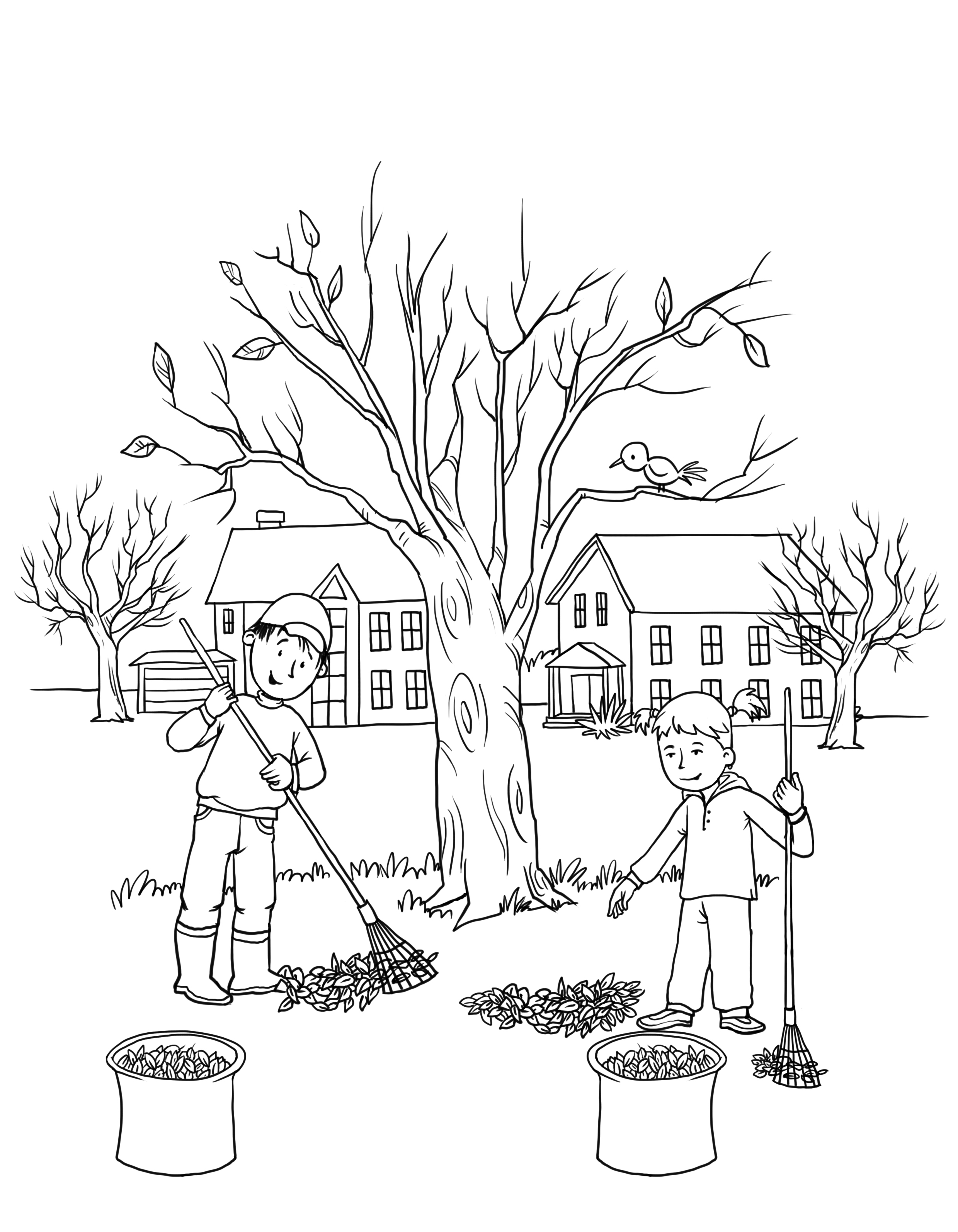 rakes coloring pages - photo#24