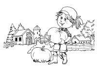 fall pumpkin farm coloring page