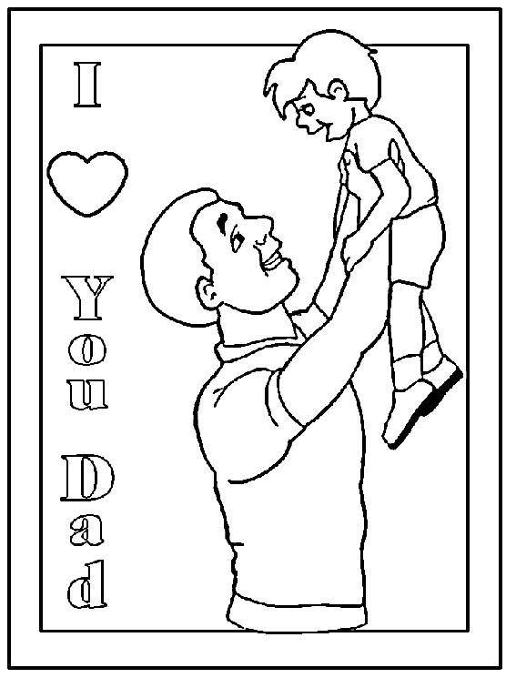 view fathersday coloring page