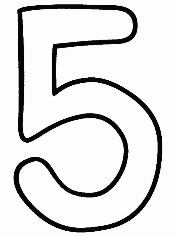 Number Names Worksheets numbers to color : Number 5 Coloring Pictures | Coloring Page