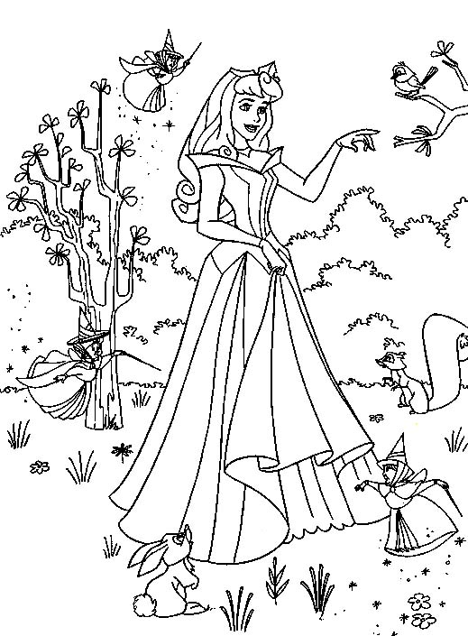 view coloring princess 1