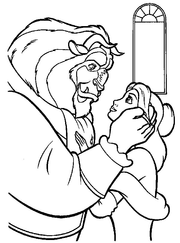 Beauty And The Beast Outline Belle 3 Sketch Coloring Page