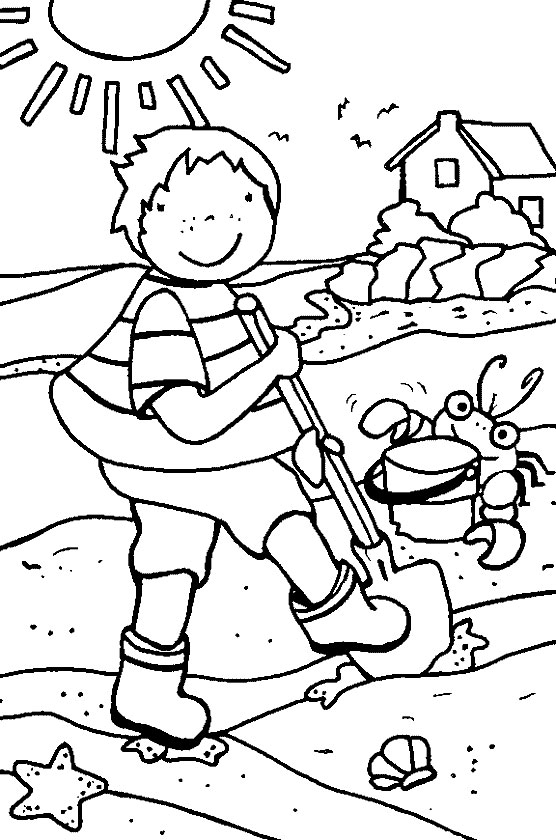 Funny Summer Coloring Pages Part Ii Summer Colouring Pages To Print