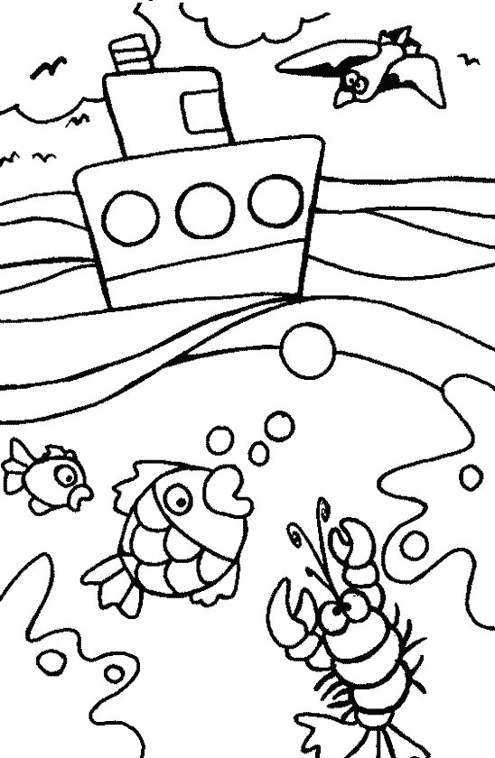 summer ocean coloring pages - photo#1