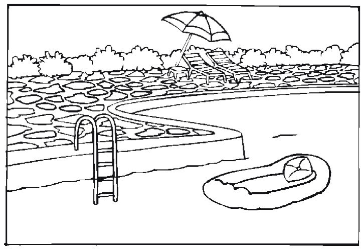 free coloring pages of pools - photo#8