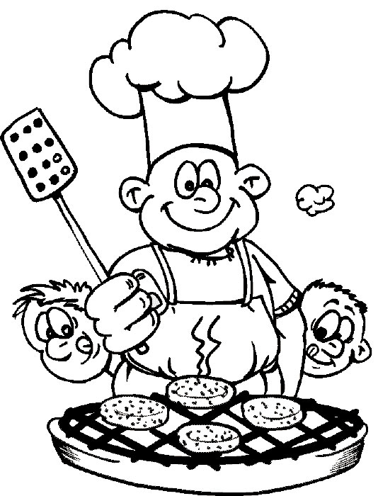 cooking food coloring pages