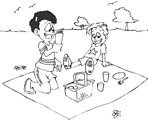 spring picnic py amy colouring pages