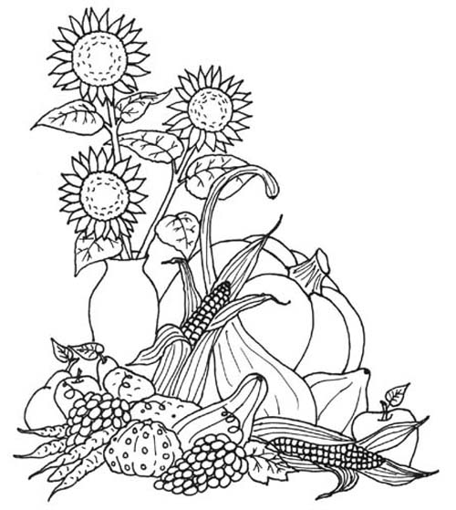 harvest kids coloring pages | Thanksgiving Coloring Pages - AllKidsNetwork.com