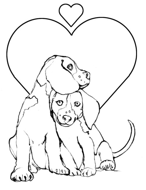 coloring pages puppies