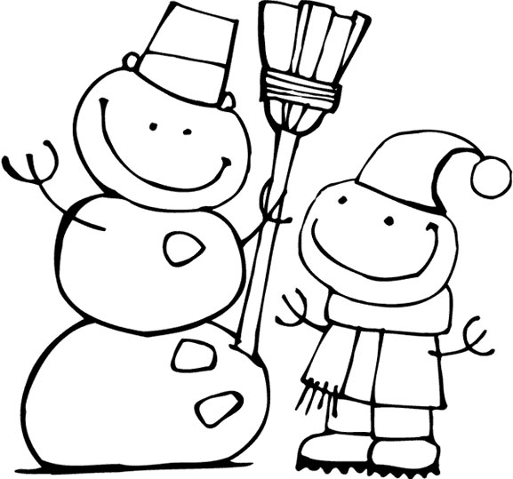 Winter coloring pages print winter pictures to color at for Winter holiday coloring pages