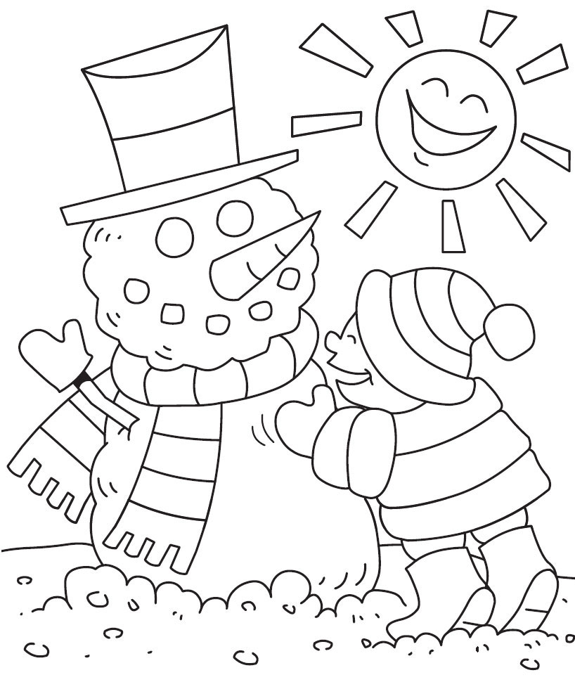 Winter Coloring Pages Print Winter to Color at