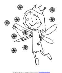 Fairy Coloring Page
