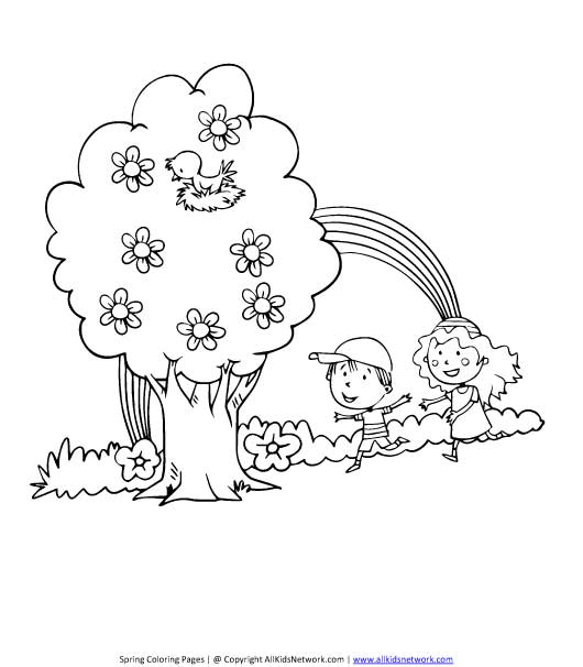 Spring Season Pictures For Colouring