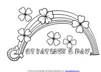 4 Leaf Clovers Coloring Page